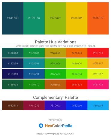Palette image download - Midnight Blue – Teal – Indian Red – Gold – Orange Red
