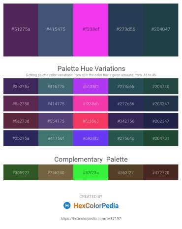 Palette image download - Dark Slate Blue – Dark Slate Blue – Magenta – Dark Slate Gray – Dark Slate Gray