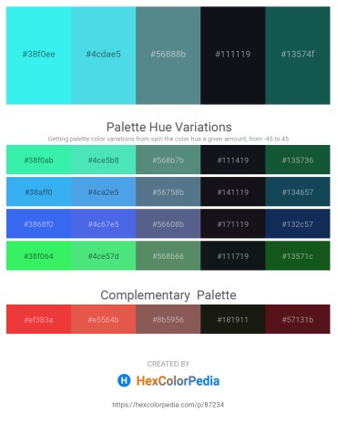 Palette image download - Turquoise – Turquoise – Cadet Blue – Cadet Blue – Olive Drab