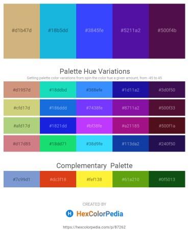 Palette image download - Tan – Light Sea Green – Dark Sea Green – Indigo – Gray