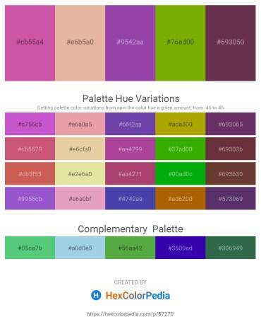 Palette image download - Pale Violet Red – Burlywood – Dark Orchid – Olive – Khaki
