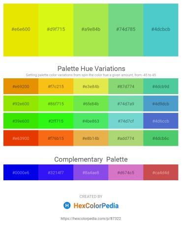 Palette image download - Gold – Yellow – Yellow Green – Medium Aquamarine – Medium Turquoise