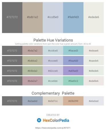 Palette image download - Dim Gray – Rosy Brown – Light Steel Blue – Light Steel Blue – White Smoke