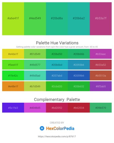 Palette image download - Yellow Green – Lime Green – Light Sea Green – Light Sea Green – Green Yellow