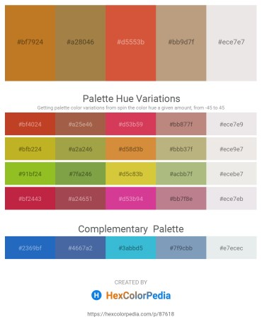 Palette image download - Chocolate – Rosy Brown – Peru – Rosy Brown – White Smoke