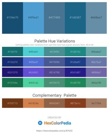 Palette image download - Midnight Blue – Light Sea Green – Steel Blue – Teal – Cadet Blue