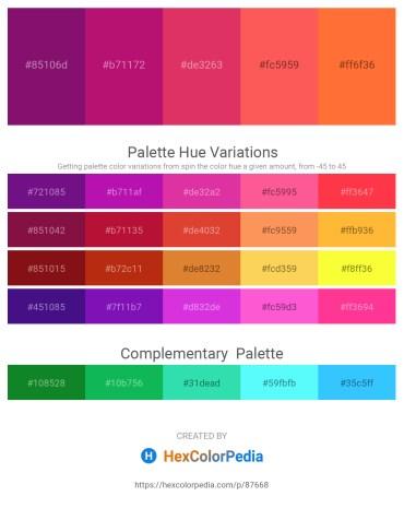 Palette image download - Purple – Medium Violet Red – Crimson – Tomato – Tomato