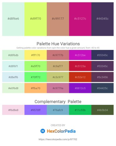Palette image download - Pale Turquoise – Green Yellow – Tan – Medium Violet Red – Dark Slate Blue