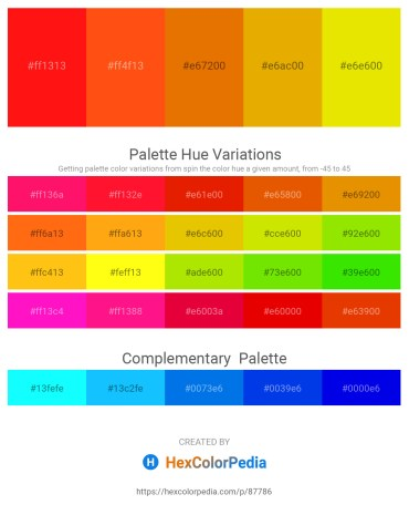 Palette image download - Red – Orange Red – Dark Orange – Orange – Gold