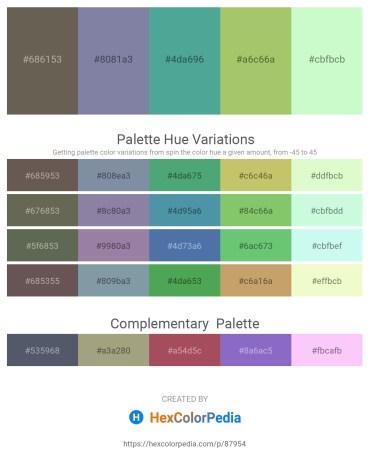 Palette image download - Dim Gray – Light Slate Gray – Cadet Blue – Dark Khaki – Honeydew
