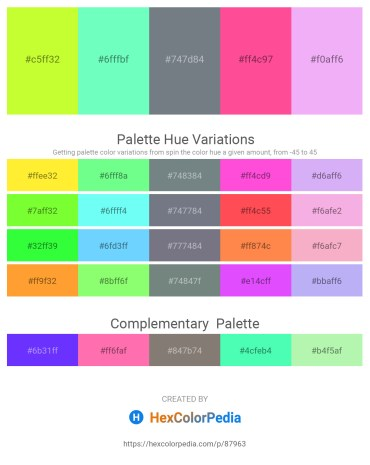 Palette image download - Green Yellow – Aquamarine – Slate Gray – Hot Pink – Lavender