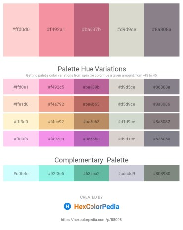 Palette image download - Pink – Light Coral – Indian Red – Light Gray – Gray