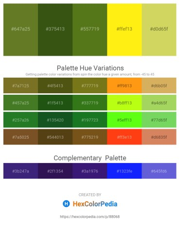 Palette image download - Olive Drab – Forest Green – Olive Drab – Yellow – Burlywood