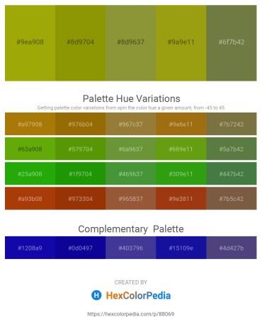 Palette image download - Dark Goldenrod – Olive – Olive Drab – Dark Goldenrod – Dark Olive Green