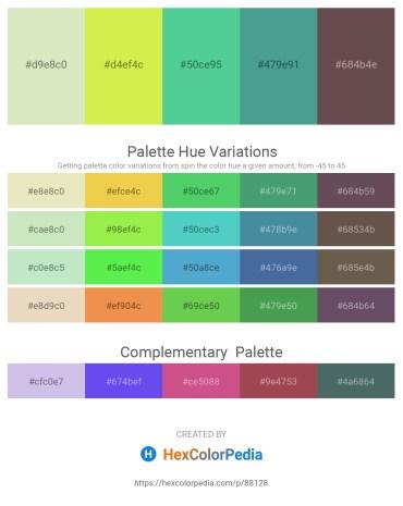 Palette image download - Beige – Green Yellow – Medium Aquamarine – Cadet Blue – Dim Gray