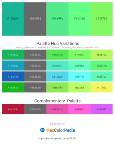 Palette image download - Light Sea Green – Dim Gray – Light Green – Pale Green – Pale Green