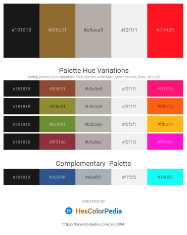 Palette image download - Black – Sienna – Dark Gray – White Smoke – Red