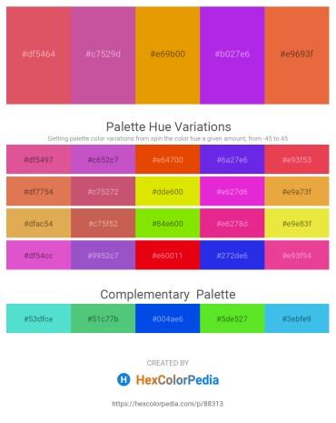 Palette image download - Indian Red – Pale Violet Red – Orange – Blue Violet – Chocolate