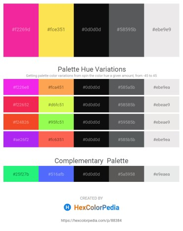 Palette image download - Deep Pink – Midnight Blue – Black – Slate Gray – White Smoke