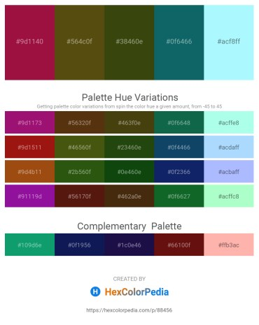 Palette image download - Firebrick – Sandy Brown – Gray – Teal – Light Cyan