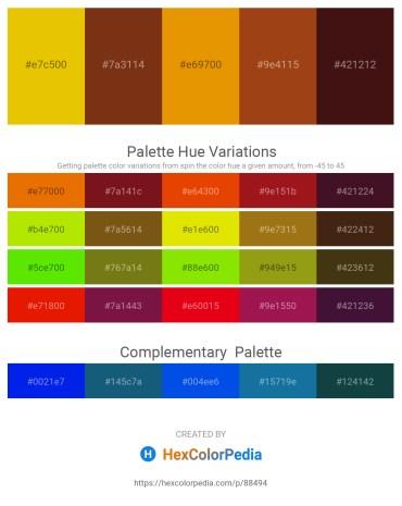 Palette image download - Gold – Saddle Brown – Dark Orange – Saddle Brown – White Smoke