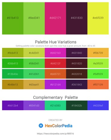 Palette image download - Olive Drab – Yellow Green – Medium Violet Red – Sky Blue – Green Yellow