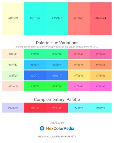 Palette image download - Lemon Chiffon – Aqua – Aqua – Light Salmon – Salmon