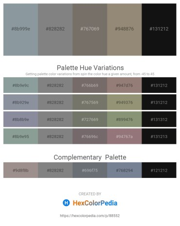 Palette image download - Light Slate Gray – Gray – Dim Gray – Gray – Black
