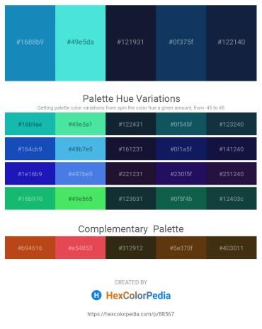 Palette image download - Light Sea Green – Turquoise – Midnight Blue – Midnight Blue – Midnight Blue