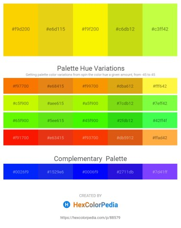Palette image download - Gold – Goldenrod – Yellow – Hot Pink – Green Yellow