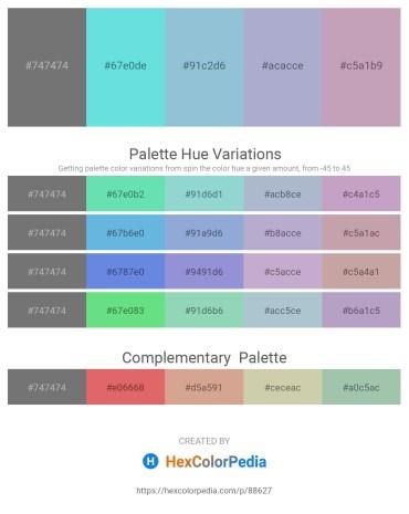 Palette image download - Dim Gray – Turquoise – Light Steel Blue – Light Steel Blue – Thistle