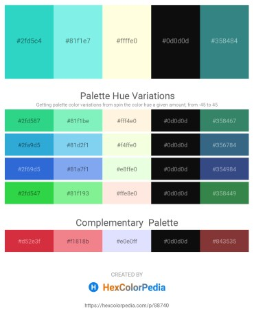 Palette image download - Turquoise – Sky Blue – Light Yellow – Black – Sea Green
