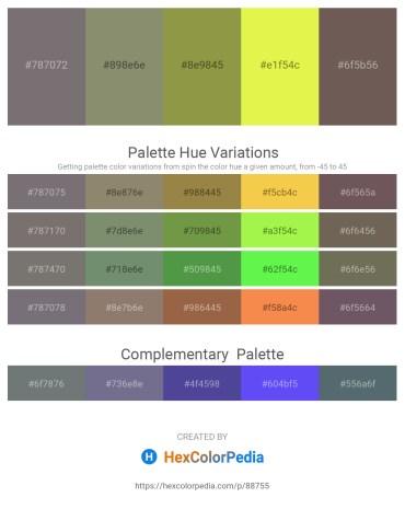 Palette image download - Dim Gray – Gray – Dark Khaki – Green Yellow – Dim Gray