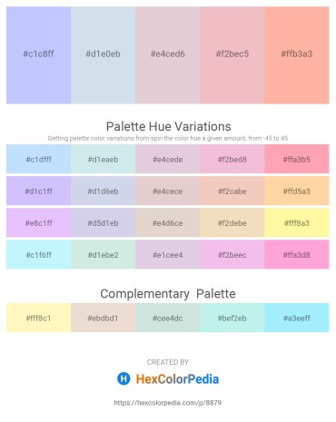 Palette image download - Alice Blue – Light Steel Blue – Thistle – Midnight Blue – Light Pink