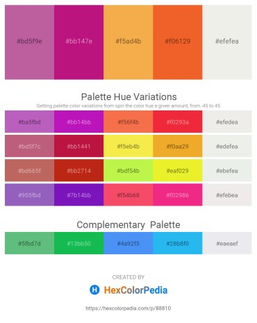 Palette image download - Pale Violet Red – Medium Violet Red – Sandy Brown – Chocolate – White Smoke