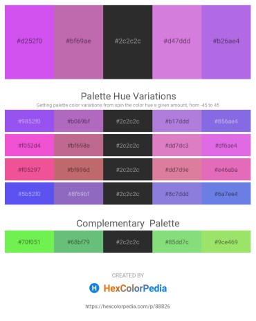 Palette image download - Blue Violet – Orchid – Black – Medium Orchid – Medium Purple