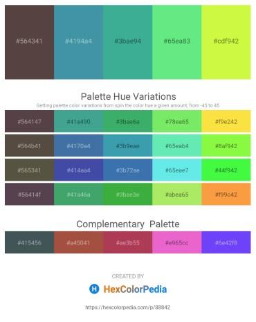 Palette image download - Dim Gray – Steel Blue – Medium Sea Green – Light Green – Green Yellow