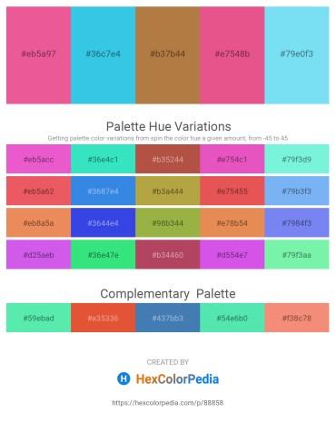 Palette image download - Light Coral – Turquoise – Peru – Light Coral – Light Sky Blue
