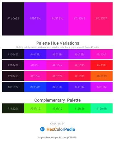 Palette image download - Midnight Blue – Dark Violet – Dark Violet – Magenta – Deep Pink