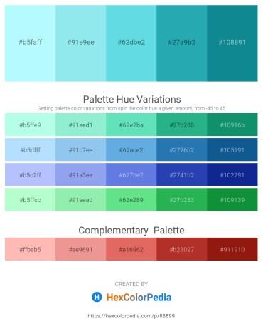 Palette image download - Light Cyan – Sky Blue – Turquoise – Light Sea Green – Light Sea Green