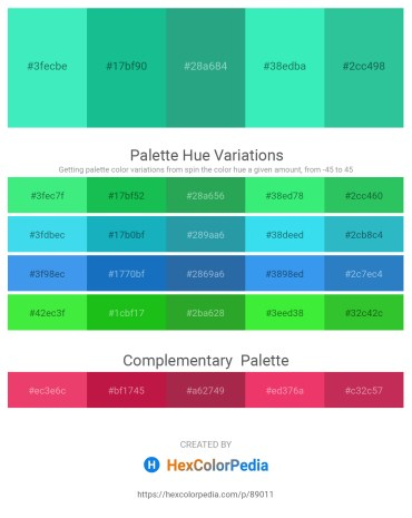 Palette image download - Turquoise – Light Sea Green – Light Sea Green – Turquoise – Light Sea Green