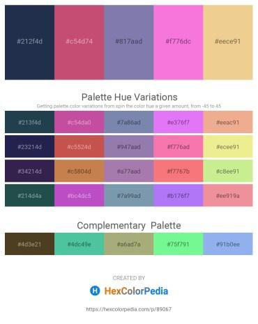 Palette image download - Dark Slate Gray – Indian Red – Light Slate Gray – Violet – Khaki