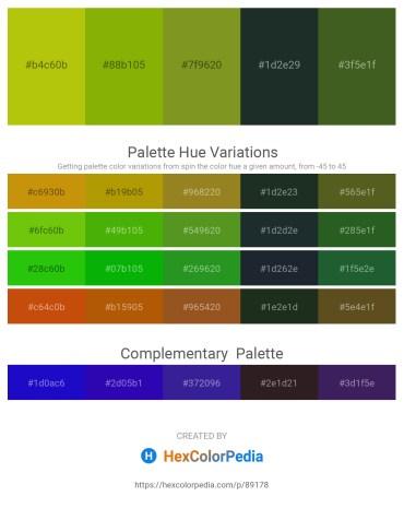 Palette image download - Light Blue – Olive – Olive Drab – Dark Slate Gray – Dark Olive Green