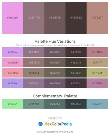 Palette image download - Violet – Gray – Dim Gray – Dim Gray – Rosy Brown