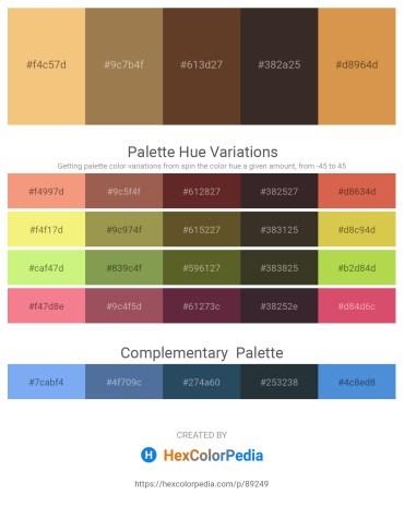Palette image download - Khaki – Yellow – Peru – Medium Turquoise – Peru
