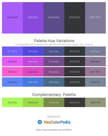 Palette image download - Medium Slate Blue – Blue Violet – Dark Slate Blue – Dark Slate Gray – Light Slate Gray