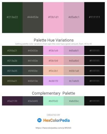 Palette image download - Dark Slate Gray – Dim Gray – Violet – Thistle – Black