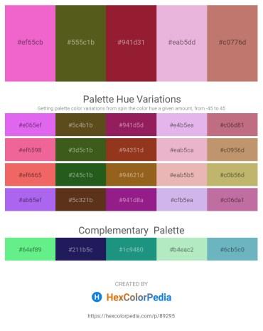 Palette image download - Violet – Dark Olive Green – Firebrick – Plum – Indian Red