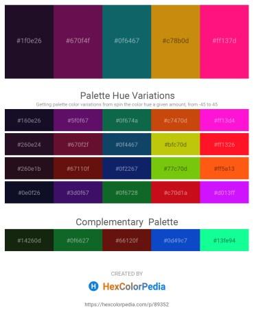Palette image download - Midnight Blue – Purple – Teal – Dark Goldenrod – Deep Pink