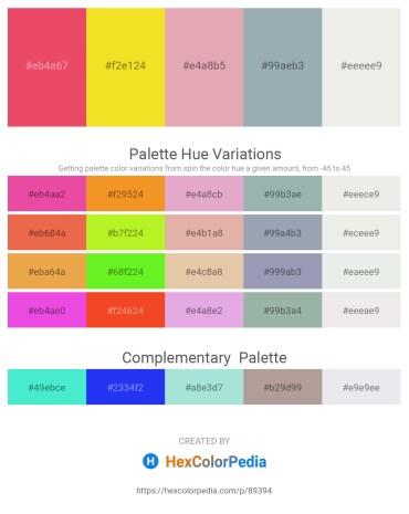 Palette image download - Light Coral – Gold – Plum – Light Slate Gray – White Smoke